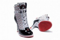 nike air jordan 6 ring heels white/black/red womens for sale