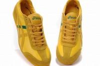 orange greeen tiger asics revolve le running sneakers
