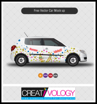Free Vector Car Design Mockup | creativology.pk