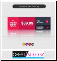 Free Vector Price Detail Tag | creativology.pk