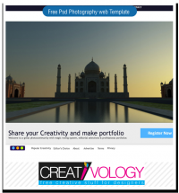 Free Psd Photography Web Template | creativology.pk