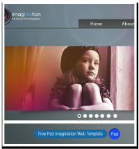 Free Psd Imagination Web Template | creativology.pk