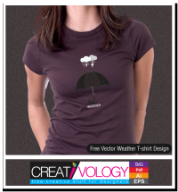 Free Vector Weather T-shirt Design | creativology.pk