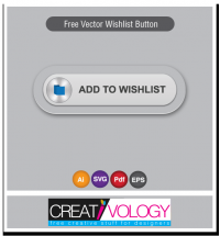 Free Vector Wishlist Button | creativology.pk
