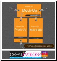 Free Vector Bussiness Card Mockup | creativology.pk