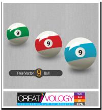 Free Vector 9 Ball | creativology.pk