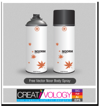 Free Vector Noor Body Spray | creativology.pk