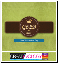 Free Vector Gold Tag | creativology.pk
