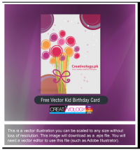 Free Vector Kid Birthday Card | creativology.pk
