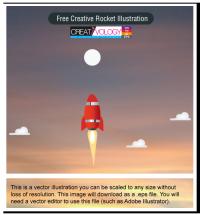 Free Creative Rocket Illustration | creativology.pk
