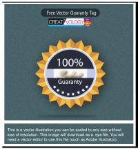 Free Vector Guaranty Tag   creativology.pk