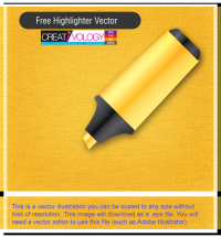 Free Highlighter Vector | creativology.pk