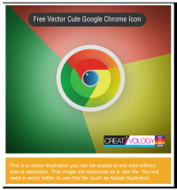 Free Vector Cute Google Chrome Icon | creativology.pk