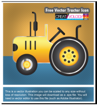 Free Vector Tractor Icon | creativology.pk