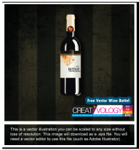 Free Vector Wine Bottel | creativology.pk