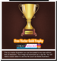 Free Vector Gold Trophy | creativology.pk