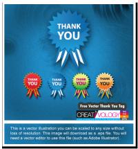 Free Vector Thank You Tag | creativology.pk