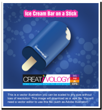 Free Vector Ice Cream Bar on a Stick | creativology.pk
