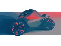 Peugeot Onyx Concept Scooter Design Sketch - Car Body Design