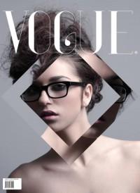   Si simple, mais tellement agréable. Couverture de conception de Vogue.