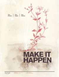 Make it happen 85x11 Pep Art Collection by evajuliet on Etsy