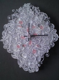 Quilled Wall clock by frauleincille on Etsy