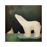 Earth Day CONSTELLATIONS Polar Bear ILLUSTRATION by nativevermont