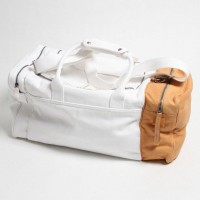 Cream & Tan Holdall by Martin Margiela | Fancy Crave