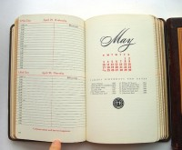 Designspiration — 1950s Leather Bound Doctor Appointment Books by SweetLoveVintage