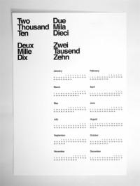Designspiration — AisleOne — Limited Edition 2010 Letterpress Calendar