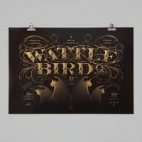 Wattle Bird Quartet, Limited Edition Print by Walter Hansen NZ Art Prints, Design Prints, Posters & NZ Design Gifts | endemicworld