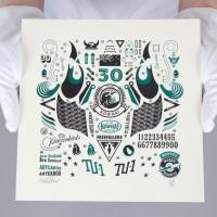 Kowhai Squadron Letterpress Print NZ Art Prints, Design Prints, Posters & NZ Design Gifts | endemicworld