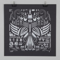 Kowhai Squadron - Low Visibility Edition NZ Art Prints, Design Prints, Posters & NZ Design Gifts | endemicworld