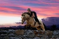 sunset horse jumping - Reiterhof Ekine - Bilder - joelle.de