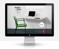 Danish Living Room Website on Web Design Served