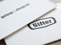 Sifter Logo & Letterpress Business Cards by Graham Smith