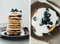 LEMON PANCAKES WITH YOGURT + BERRIES - SPROUTED KITCHEN - A Tastier Take on Whole Foods
