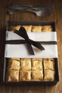 in the kitchen with: rick poon's choc + hazelnut baklava | Design*Sponge