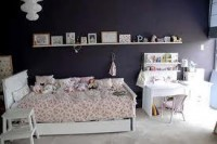black walls bedroom ideas - Google Search