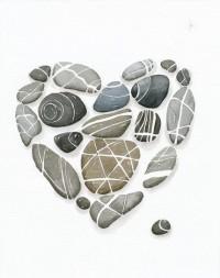 Heart Pebbles No6 Art Print 8x10 Limiterd Ediction by lorisworld