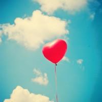 Heart Balloon on Sky Photography Home Decor Nursery by Andrekart