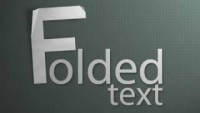 Photoshop - Realistic Folded Paper Text - YouTube