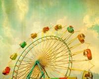 Carnival print circus photo Ferris wheel home by CarlChristensen