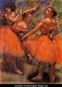 Red Ballet Skirts - Edgar Degas - www.edgar-degas.org