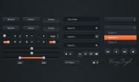 Dark UI Kit - 365psd