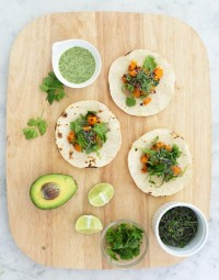 Recipe: Miso-Maple Sweet Potato Tacos with Coconut-Cilantro Sauce Blogger Recipe | The Kitchn