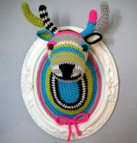 Crocheted Faux Taxidermy by Manafka Mina : Wantist