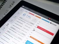Calendar Screen (iPad App UX/UI) by Oykun