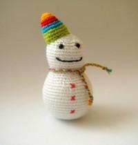 crocheted snowman par sabahnur sur Etsy