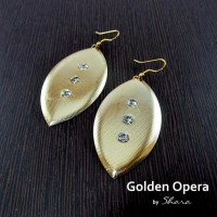 Golden Opera Earrings - Craftsia - Indian Handmade Products & Gifts